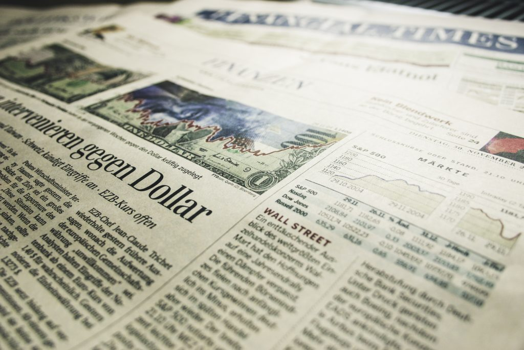 Zeitung Financial Times / newspaper financial times