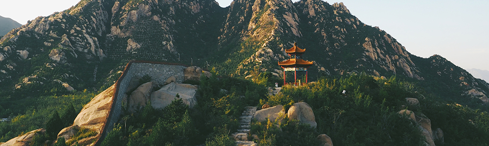 A picturesque mountain view in China