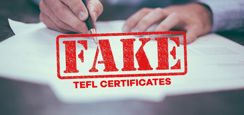 Fake Tefl Certificates Tefl Org Uk