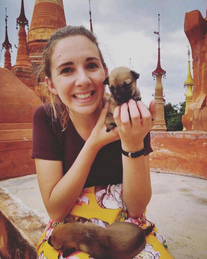 Holly in Myanmar