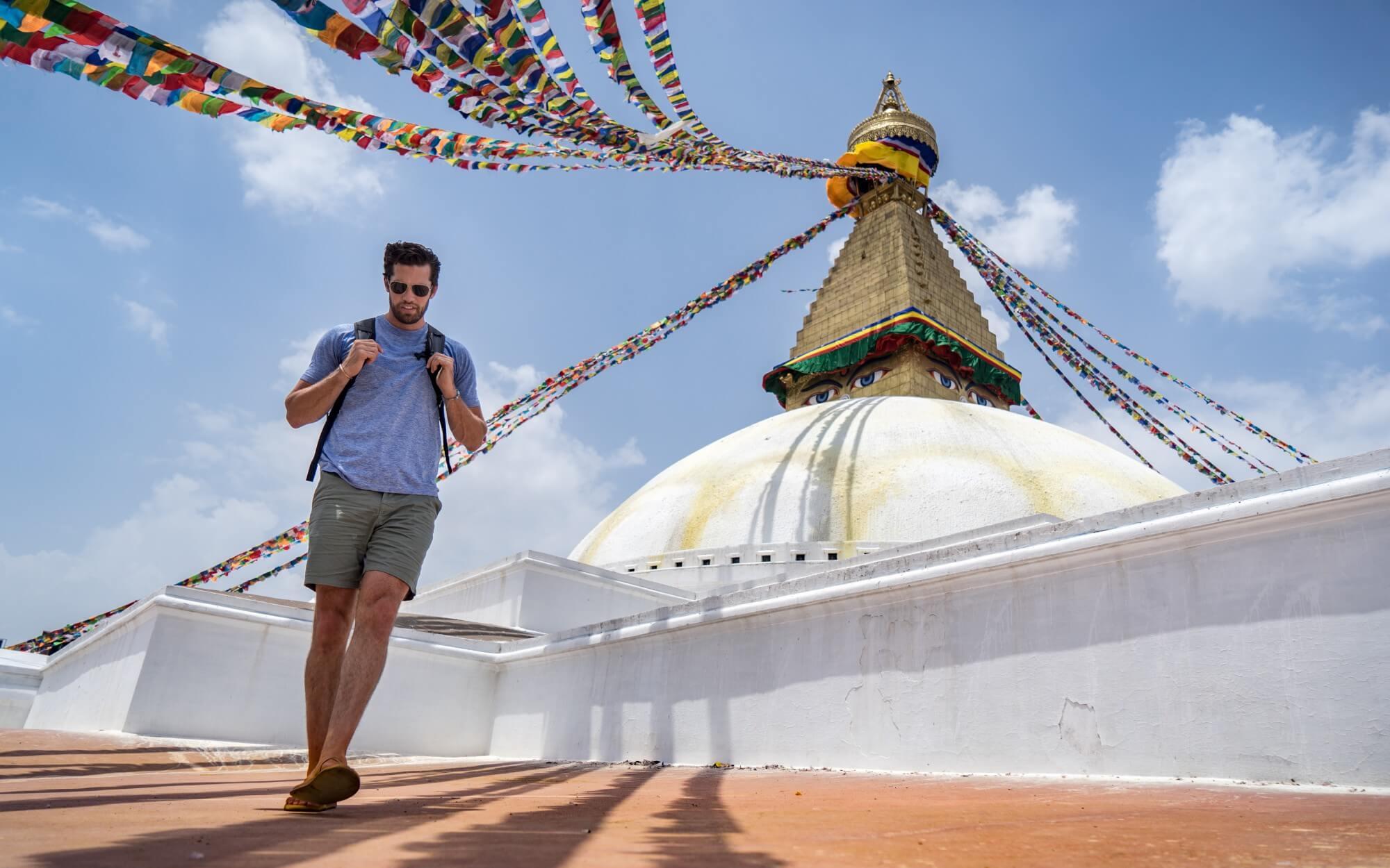 Travis Bluemling in Kathmandu, Nepal
